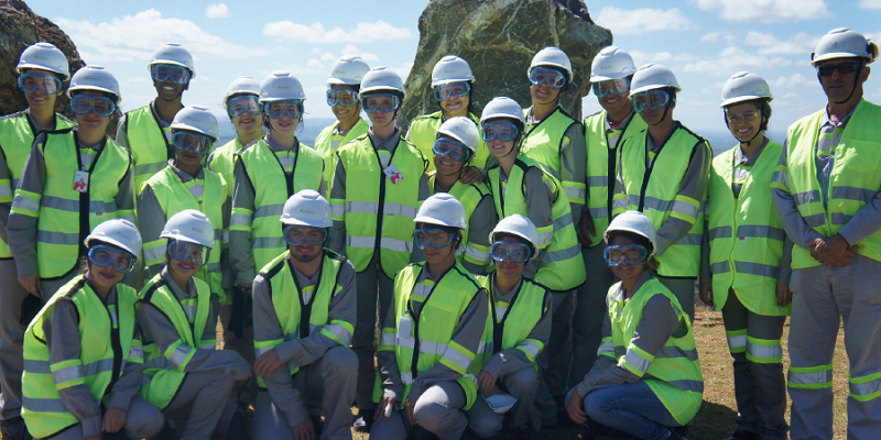 Alunos do Formare em visita à mina de fosfatos da Copebras.