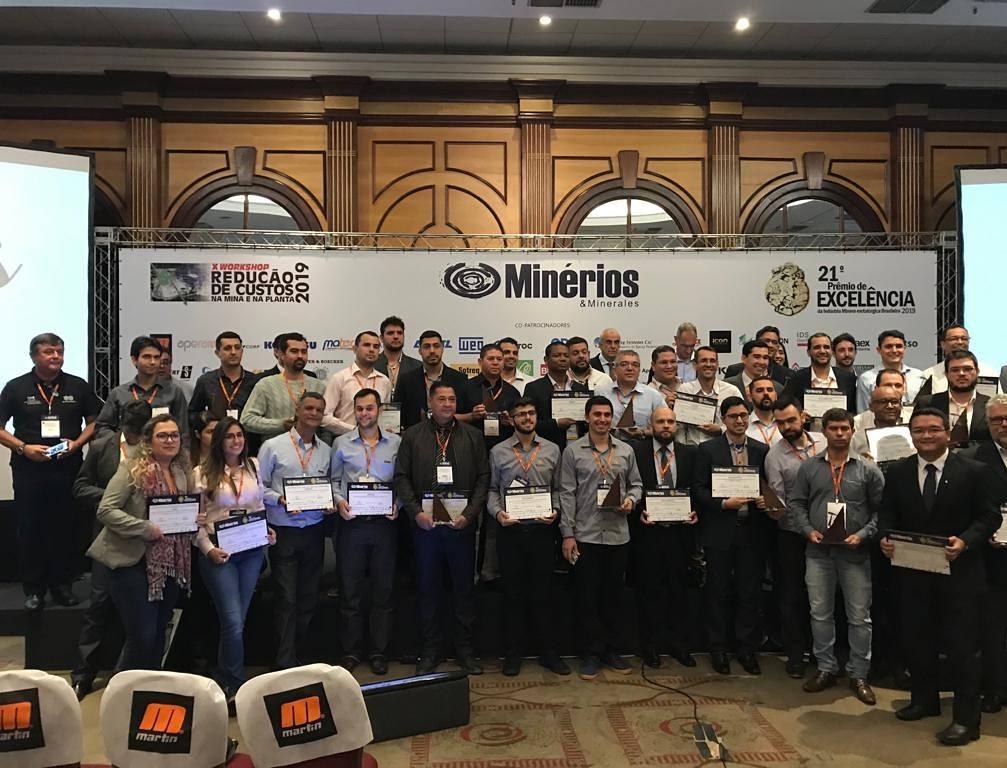 CMOC Brasil recebe prêmios no 21º Prêmio de Excelência da Indústria Minero-Metalúrgica