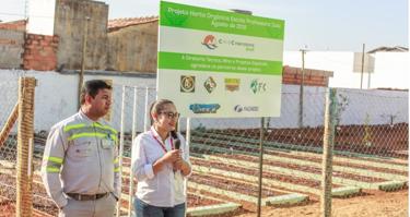 Escola Estadual Professora Zuzu inaugura horta com apoio da CMOC Brasil