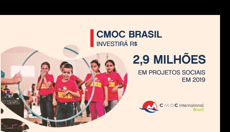 CMOC International Brasil garante apoio a projetos socioambientais